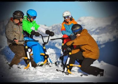 Group Snowbiking